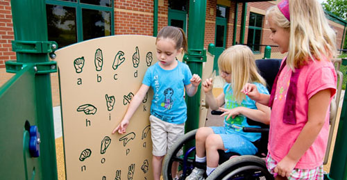 disabled nondisabled children