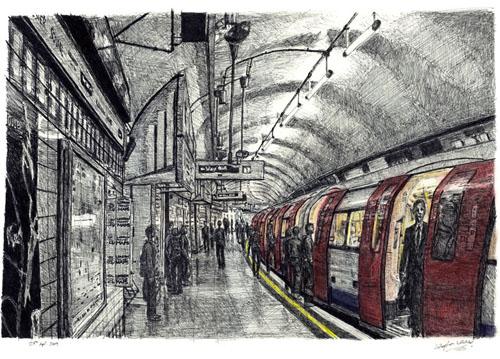 Остановка Лейчестер-сквер в метро Лондона