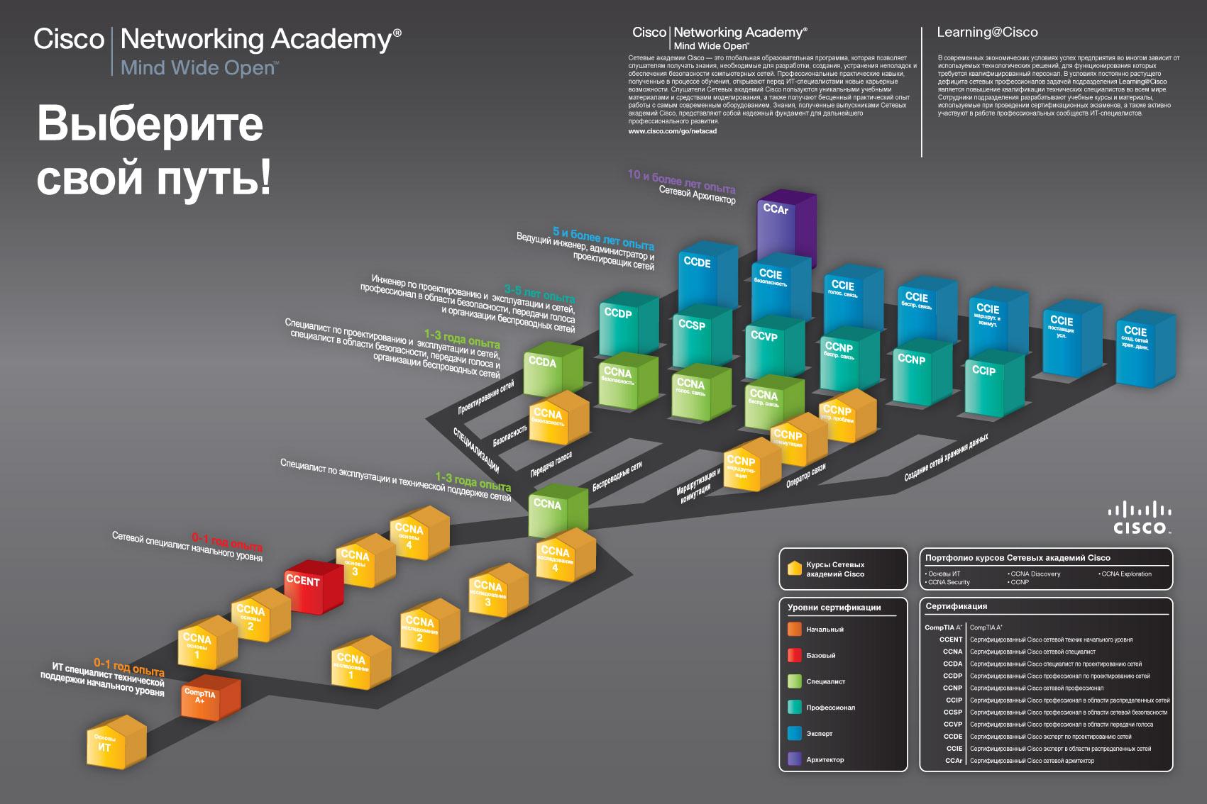 Структура обучающих программ Сетевой академии Cisco